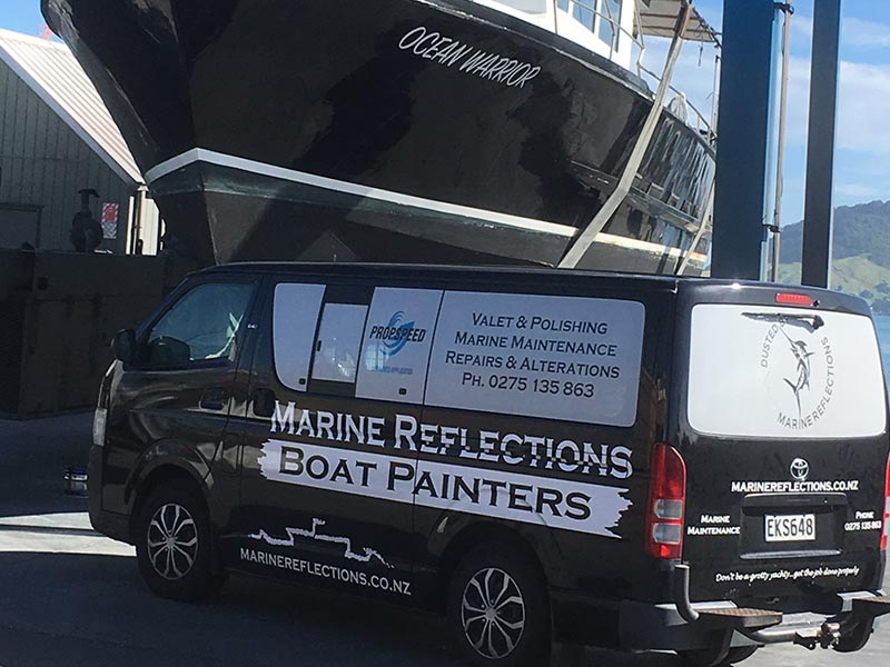 Marine Reflections professional boat painters