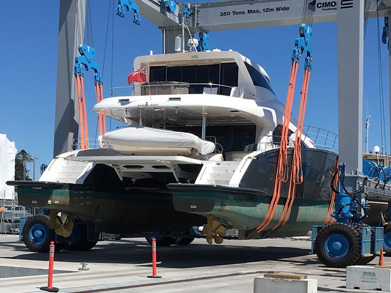 Marine Reflections boat lift to drydock