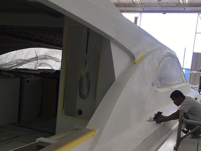 Fairing and hull preparation